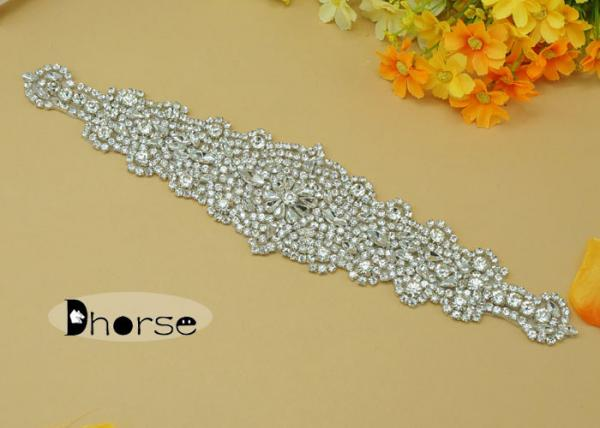 Handmade jewelry rhinestone beaded applique work designs for