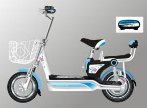 China High Convenience Electric Scooter With Seat , E Bike Scooter Strengthened Frame on sale
