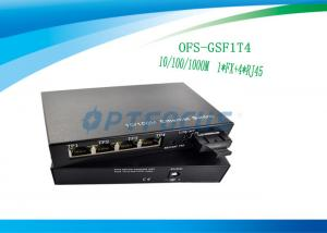 China Ethernet 1000Mbps Poe Gigabit Switch 1 Port 1FX + 4UTP 1MKb External Power on sale