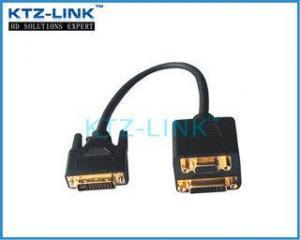 China DVI TO DVI+VGA Adapter on sale