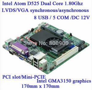 China Mini Itx industrial motherboard Intel ATOM D525 DC12V 5*COM Single 18bit LVDS Industrial Motherboards M5S-D5 on sale