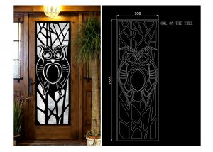 China Erosion Resistance / Fireproof Wrought Iron Glass Square Steel Doors on sale