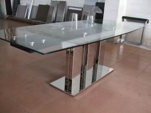 China Indoor Furniture Tempering Glass Rectangular Coffee Table Transparent on sale