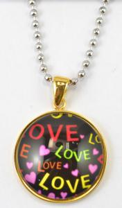 China Factory direct wholesale 316l stainles steel rounded alphabet glass pendat on sale