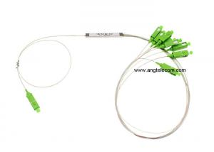 China Passive Optical PLC Splitter Mini 1 8 Fiber Optic Splitter With SC / APC Connector on sale