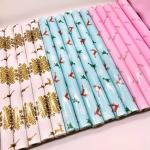 Factory price OEM design custom printed custom gift wrapping paper roll for packaging