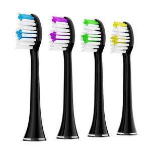 China Replacement Brush Heads for the Acteh Sonic Edge Toothbrush - Pack of 4(black) on sale