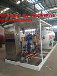 China bottom price mobile skid lpg gas station with lpg gas dispenser for sale, HOT SALE! 5tons skid lpg filling plant