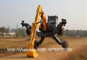 China Desiel Fuel ET110 Rough Road Wheel Walking Excavator / XCMG Machinery on sale