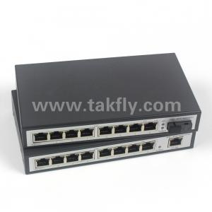 China 8 port rj45 + 1 port fiber port 100M fiber optical network switch on sale