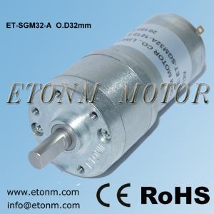 China 24v dc electrical gearhead motor, gearhead motor encoder 12v 32mm on sale