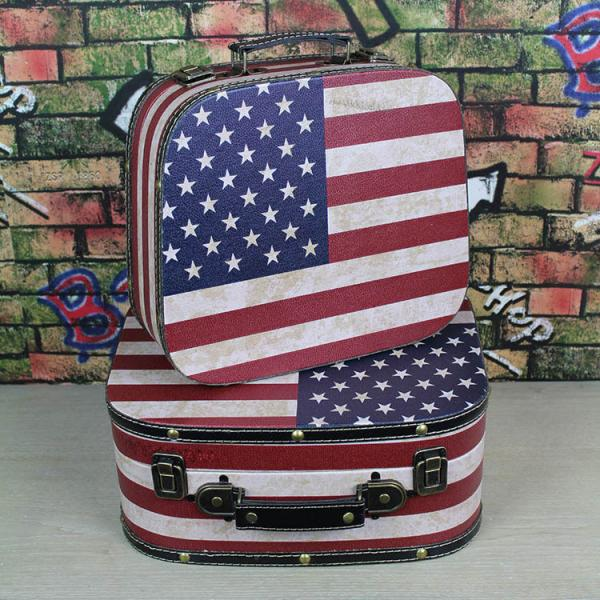 American Eagle Blue Thin Line Flag Portable Make-up Storage Capacity Bags For Travel Hanging Zipper
