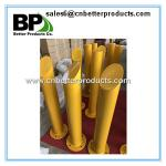 top cutting steel round pipe bollard