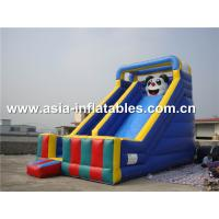 Commercial Inflatable Slide With Panda Cartoon Used For Party And Holiday