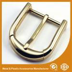 Пряжка пояса зажима Pin изготовленным на заказ глянцеватым покрынная золотом для пояса людей 4cm кожаного
