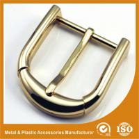 Pin Clip Custom Shiny Gold Plated Belt Buckle For 4cm Men