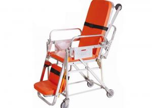 China First Aid Patient Transfer Stretcher , Orange Collapsible Ambulance Stretcher on sale