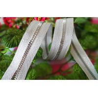 China Smoothly Resin Zipper With Silver Teeth / No 5 Plastic Zipper on sale