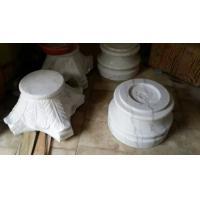 Marble Column Top and Base Guangxi White Marble Roman Column Cap Ionic Column Plinth