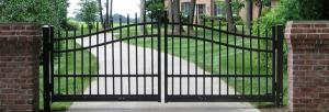China Aluminum gate double swing gate villa gate on sale