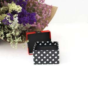 China Red Lid With Bow-Tie Eco Friendly Jewelry Packaging Black Pillow Inner And Base on sale