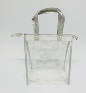China 2018 fashionable transparent EVA  plastic cosmetic bag,tote bag on sale