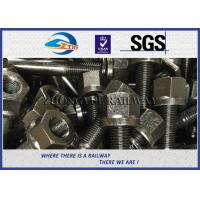 China 10.9 Grade Square Head Bolts For Railway Fastening System Black Oiled Colors on sale