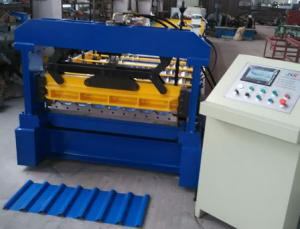 China 9kw Panel Roll Forming Machine , 380v 50hz Metal Roof Panel Machine on sale