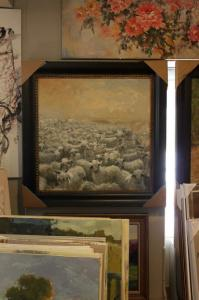 China Classic Oil Painting With Wooden Frame Handmade of reproduction - museum quality on sale