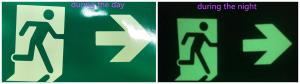 China Plastic Photoluminescent Vinyl Film Self Adhesive For Everglow Exit Signs on sale