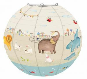 China Baby shower Kids Paper Lanterns bed room hanging decoration birthday ceremony on sale
