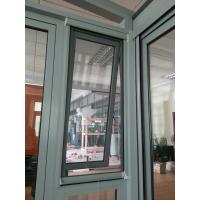 China Aluminium top hung window with retractable flyscreen on sale