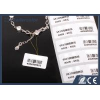 Customized Size PET UHF RFID Tags Jewelry Hang Label With Barcode Printing