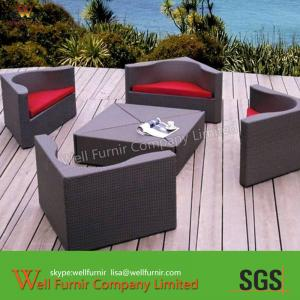 China Waterproof Outdoor Wicker Sofa ,5pcs Modular Sofa For Pool on sale