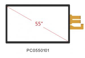 China 55 Inch Projected Capacitive Multi Touch Screen Lcd Panel,plug and play,UVC on sale