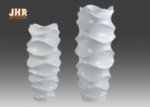 China Creative Shape Fiber Glass Planters / Resin Vases on sale