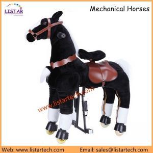 China Mechanical Horse Toys Walking Toy, Ride on Animal, Giddy Up Go Pony Ride on Horse-Zebra on sale