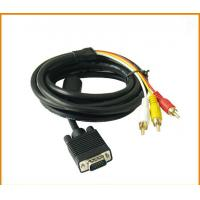 China High Quality RCA Audio Cable VGA to Red White Yellow Cable VGA to RCA Cable on sale