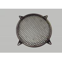Round Type Waffle Speaker Grill Mesh , Metal Grill Mesh Size Customized