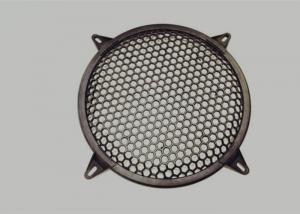 China Round Type Waffle Speaker Grill Mesh , Metal Grill Mesh Size Customized on sale