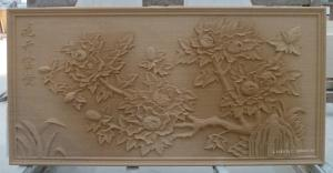 China 3D cnc natural feature sandstone relief wall tile on sale