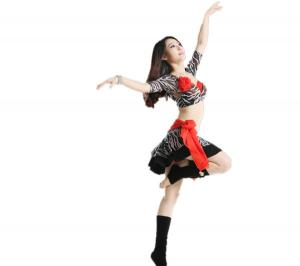 China Korea Mesh Professional Belly Dance Costumes for Practice of Bra / Belt and Leggings on sale