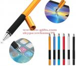 2 in 1 Multifunction Fine Point Round Thin Tip Touch Screen Pen Capacitive Stylus Pen For Smart Phone Tablet For iPad