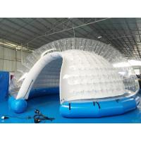 Semi Transparent Inflatable Bubble Tent / Inflatable Yard Tent White PVC Tarpaulin