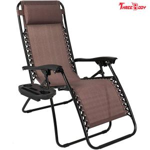 China Adjustable Pool Outdoor Patio Lounge Chairs Brown UV Resistant 38 X 26 X 9.5 Inches on sale