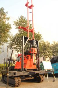China 200m Hydraulic Crawler Rock Drill With Mud Pump , Generator On Board on sale