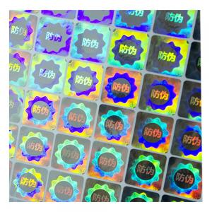 China Pely Anti Counterfeit Custom Die Cut Holographic Stickers on sale