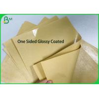 One sided PE Poly Coated 250gsm 270gsm 300gsm Kraft Paper Board for Food Paper Plates