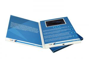 China Promotion Gifts Lcd Video Brochure Event Invitation Cards With Screen And Speaker on sale