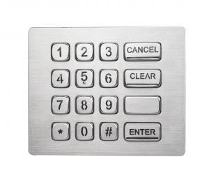 China Durable16 keys backlit brushed steel numeric keypad with USB electronic controller on sale